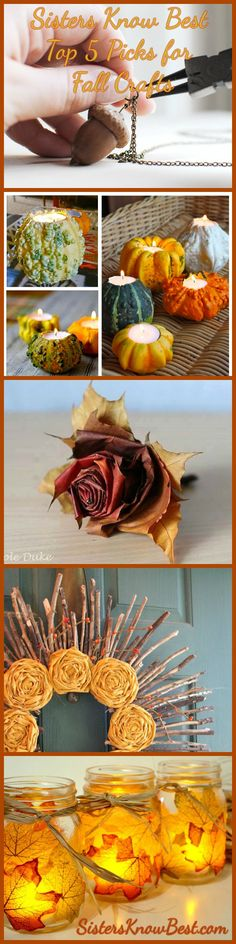 Top DIY Fall Crafts from #SistersKnowBest #Fall #DIY