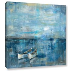 36x36  $119.99  ArtWall Silvia Vassileva's Two Boats, Gallery Wrapped Canvas | Overstock.com Shopping - The Best Deals on Canvas