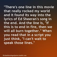 Wouldn't you love to write a line in a script that someone would want to speak one day?