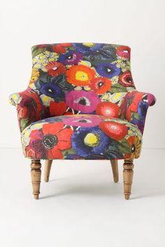 Blythe Chair - Blazing Poppies pattern #Anthropologie