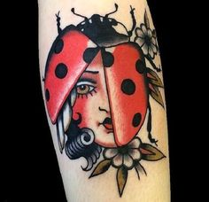 The Lady- Bug Tattoo. The lady beetles are termed as lady bugs. The lady bug tattoos are thought to be a sign of luck and prosperity and fertility too.