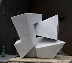 A sculpture titled 'On Edge (abstract Contemporary marble Indoor Carving statue sculpture)' by artist Neil Ferber in the category Conceptual Art Sculptures Statues often Large or Monumental Abstract Art. This sculpture has the dimensions of 40 x 45 x 45 cm and is an edition number of 1, the sculpture is sculpted from a medium of 'carrara marble'. An Modern Contemporary Abstract sculpture statuette for sale for Indoors Inside Interior display in the House or Home as a TableTop or Shelf by…