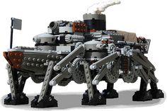 Lego Steampunk Ironclad Walker Tank  #lego #steampunk