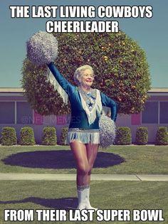 last living dallas cowboys cheerleader meme