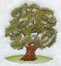 Olive Tree - No Text design (K1383) from www.Emblibrary.com