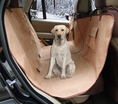 ZQ Waterproof Hammock Style Anti-slip Bench Car Seat Cover for Pets Universal Size Machine Washable >>> Visit the image link more details.
