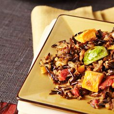 Wild Rice Pilaf with Sweet Potatoes & Brussels Sprouts Recipe