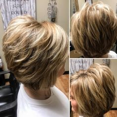 Best Short Layered Haircuts for Women Over 50 Short-Laye. - Best Short Layered Haircuts for Women Over 50 Short-Layered-Hai…_ Best Sh - Layered Haircuts For Women, Short Hairstyles For Thick Hair, Short Hair Styles Easy, Short Hair With Layers, Short Hair Cuts, Medium Hair Styles, Curly Hair Styles, Short Layered Bobs, Bobs For Thick Hair