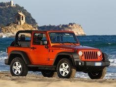 When I was younger I always wanted a red jeep just like this!
