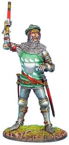 Medieval Knights & Saracens MED031 Sir Thomas Erpington - Made by First Legion Military Miniatures and Models. Factory made, hand assembled, painted and boxed in a padded decorative box. Excellent gift for the enthusiast.