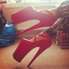 "What they call ""stripper shoes""...seriously, how is it possible for anyone to walk in these?"
