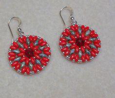 Super Duo Mandala Earrings pattern on Craftsy.com