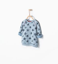 Star print sweatshirt-Jackets, Cardigans and Sweaters-Baby boy-COLLECTION AW15 | ZARA United States