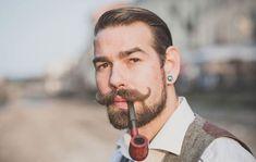 How To Grow A Handlebar Mustache Mustache And Goatee, Handlebar Mustache, Growing A Mustache, Beard Styles, Hair Styles, Thick Beard, Gentleman, Mustache Styles, Full Beard