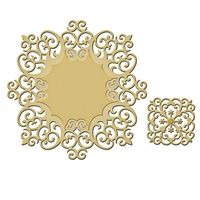 """Victorian Medallion Two - SKU: S4-443  Price: $19.99 - Approximate Die Template Sizes:  Accent: 1½ x 1⅜"""" Inset: 3⅞ x 4⅜"""" Border: 4 x 4½"""""""