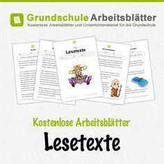 Kostenlose Arbeitsblätter und Unterrichtsmaterial für den Deutsch-Unterricht zum Thema Lesetexte in der Grundschule.