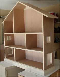 Image detail for -unfinished doll house book case