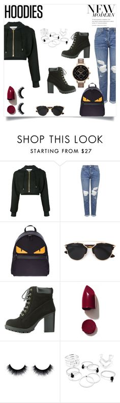 """Winter Layering: Hot Hoodies"" by exhaledcoco ❤ liked on Polyvore featuring Moschino, Topshop, Fendi, Christian Dior, Charlotte Russe, NARS Cosmetics, Olivia Burton, women's clothing, women's fashion and women"