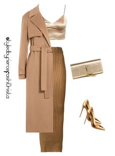 """""""Bronze and gold"""" by fiercefashi0nista on Polyvore featuring Iris van Herpen, Jason Wu, Yves Saint Laurent and Christian Louboutin"""