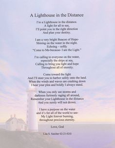 Christian Inspirational Poems  ... Inspirational Christian Poetry - Poems - A Lighthouse In The Distance