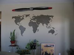 So neat this is done with a projector and paint...this is · World map wall artWall ... & 36 best DIY PROJECTS DONE W/ PROJECTORS images on Pinterest | Craft ...