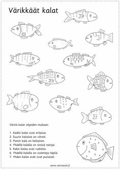 Finnish Language, Becoming A Teacher, Early Childhood Education, Special Education, Preschool Activities, Teaching Kids, Elementary Schools, Coloring Pages, Crafts For Kids