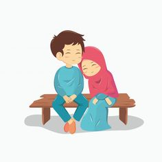 Wedding Couple Cartoon, Love Cartoon Couple, Cute Love Cartoons, Cute Couple Art, Cute Muslim Couples, Romantic Couples, Cute Couples, Wedding Couples, Romantic Weddings