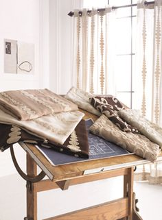 Softline Home Fashions Strathcona Group White Curtains, Fabulous Fabrics, Drafting Desk, Blanket, House Styles, Bed, Nairobi, Inspiration, Furniture