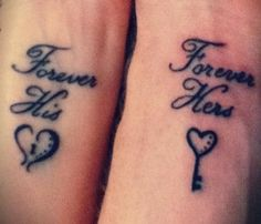 The hubby and I are thinking about getting matching tattoos. this one is defin. - The hubby and I are thinking about getting matching tattoos… this one is definitely in the runnin - Paar Tattoos, Bild Tattoos, Neue Tattoos, Script Tattoos, Couple Tattoo Quotes, Couple Tattoos Love, Matching Couple Tattoos Quotes, Couple Tattoo Ideas, Matching Relationship Tattoos