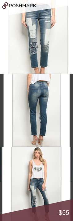 🆕 💙 Patchwork Denim Jeans Our latest denim selection for the boutique. These are one of our absolute favorites. Dark Denim patchwork denim in ankle length. 98% Cotton 2% Spandex for just the right fit.   ✅ Next or same business day shipping.  ✅ Boutique prices are firm unless bundled for a discount.  ❤️❤️❤️❤️❤️❤️❤️❤️❤️❤️❤️❤️❤️ Trindy Clozet Boutique Jeans Ankle & Cropped
