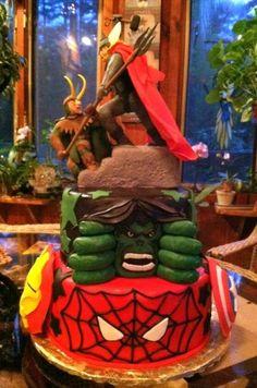 Avengers Cake and Avenger Cakes Ideas - Cake Decorating Community - Cakes We Bake awesome-cakes