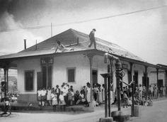 Estación de ferrocarril de Yauco (c1917). Tomado de Puerto Rico Historic Building Drawings Society