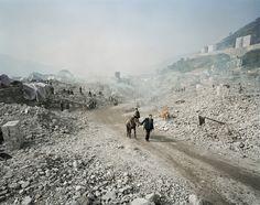 Three Gorges Dam Project, Feng Jie #5, Yangtze River, China 2002  edward burtynsky