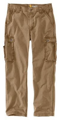 "Carhartt Rugged Cargo Pants for Men - Dark Khaki - 38x36: """"""Rugged Cargo Pants from Carhartt are ideal… #Fishing #Boating #Hunting #Camping"