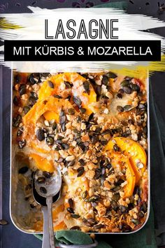Pumpkin lasagna: recipe with crispy crust - Pumpkin Lasagna: The Best Recipe. We use aromatic butternut squash and mild mozzarella for our deli - Pumpkin Lasagna, Lasagna Soup, Mozzarella, Nutritional Value Of Spinach, Spinach Benefits, Winter Food, Summer Recipes, Good Food, Dinner Recipes
