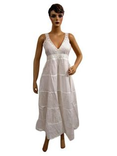 White Dresses Hot & Sexy Bohemian Style Sundress Maxi Dress for Womens Mogul Interior, http://www.amazon.com/gp/product/B0099KR0J6/ref=cm_sw_r_pi_alp_QKuuqb0P8071W
