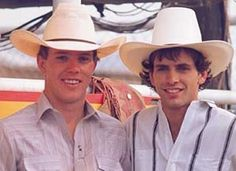 Tuff & Lane!  Two legendary bull riders and best friends.