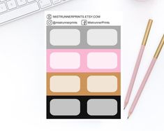 Stylish and Elegant Planner Stickers by MistrunnerPrints Planner Stickers, Personal Planners, Mini Hands, Weekly Planner, How To Draw Hands, Etsy Seller, Icons, Kit, Erin Condren