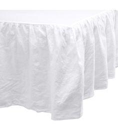 King/Queen Linen Bedskirt | White | Home | H&M US