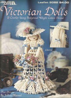 Victorian+Dolls+to+Crochet+Doll+Patterns+Leisure+Arts+4+Designs+Bride+Wedding