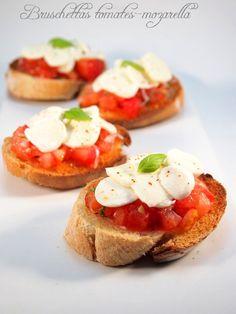 Bruschettastomates-mozzarella