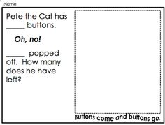 Learning With Mrs. Parker: Subtract with Pete the Cat