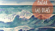 Tutorial Acuarelas: como pintar las olas del mar (super facil) * ART Tv ...