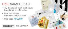 FREE SAMPLE BAG | Use code FOLLOW