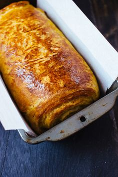 Pumpkin Brioche Bread with Chocolate Swirl (The Blonde Chef)