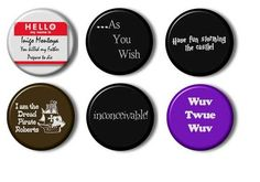Set of 6 The Princess Bride Funny Pinback Buttons Pins Badges