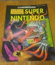 Super Nintendo Strategy Guide VTG Retro Gaming F Zero Super R Type SNES Mario