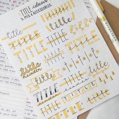24 Insanely Simple Bullet Journal Header Ideas To Steal! Need some bullet journal header ideas for beginners? This post is FOR YOU! The perfect way to liven up your bullet journal is with a fancy header! Bullet Journal 2019, Bullet Journal Writing, Bullet Journal Ideas Pages, Journal Pages, Journal Art, Journal Prompts, Bullet Journals, Bullet Journal Ideas Handwriting, Bullet Journal Title Fonts
