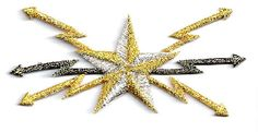 Celestial - Star - Bolts - Embroidered Antique,Gold, Silver Iron On Patch | Crafts, Sewing, Embellishments & Finishes | eBay!