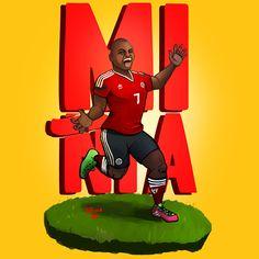 """Pablo """"Miñia"""" Armero  Selección Colombia 2014 on Behance"""